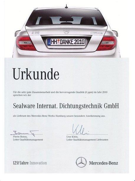 Zertifikat Mercedes